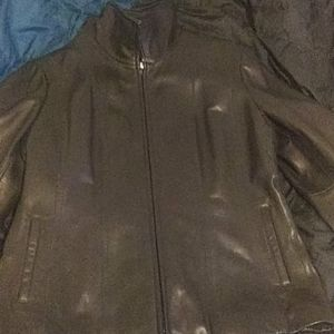 Jones New York leather coat